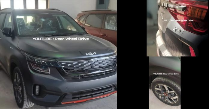 KIA Seltos X-Line edition arrived at showrooms ahead of its launch