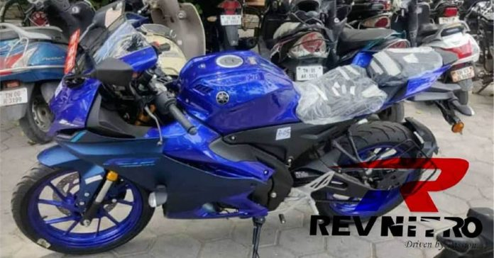 New Yamaha R15M spotted in showrooms ahead of its launch