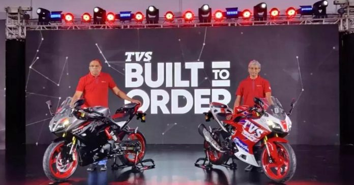 TVS Motor launches 'Built To Order' platform along with its 2022 Apache 310
