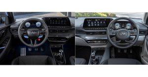 i20 Turbo Vs i20 N-Line Interior