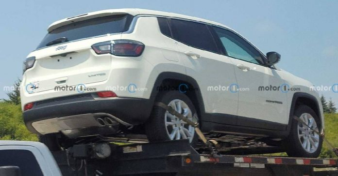 2022 Jeep compass mild-hybrid spotted in the USA