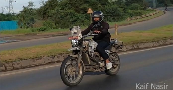 Yezdi's new adventure bike spied on in camouflage avatar